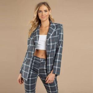 Women's plaid blazer
